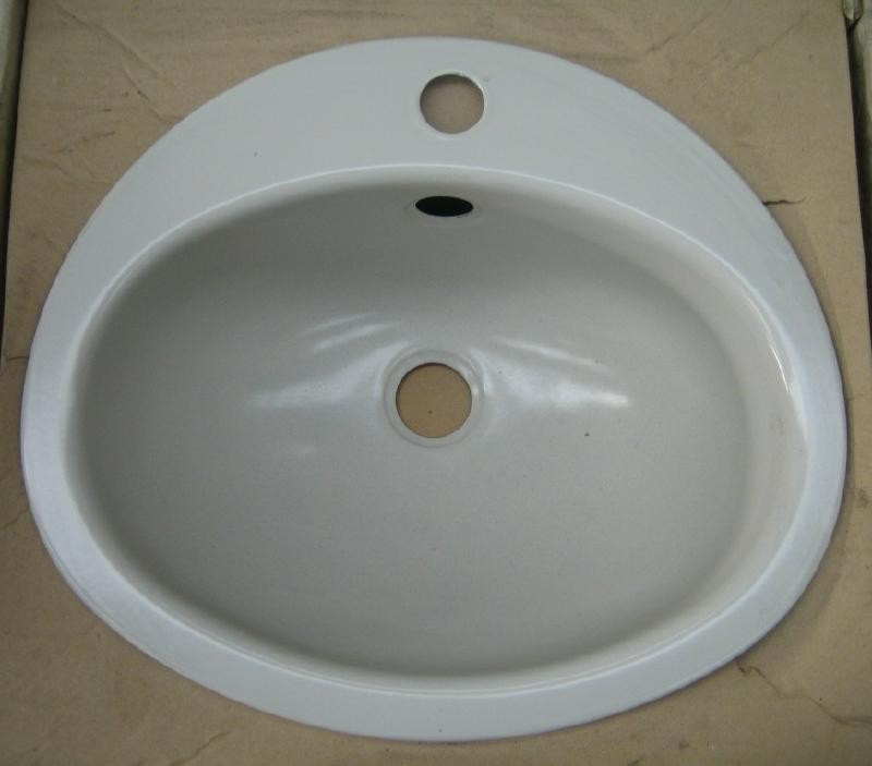 teka kw9 einbauwaschbecken einbau waschbecken hell grau 41 x 36 cm spuelen. Black Bedroom Furniture Sets. Home Design Ideas