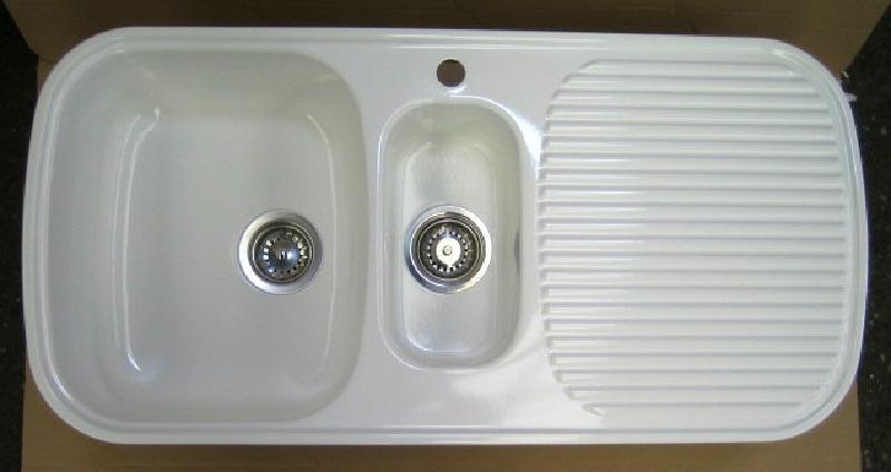 Blanco multi spule weiss 995x49 cm becken links spuelen for Blanko spülen