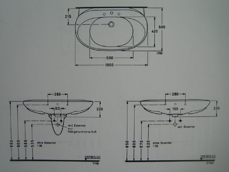 Waschbecken maße standard  Waschtisch Holz Mit Waschbecken: Waschtisch mit unterschrank 50x40 ...