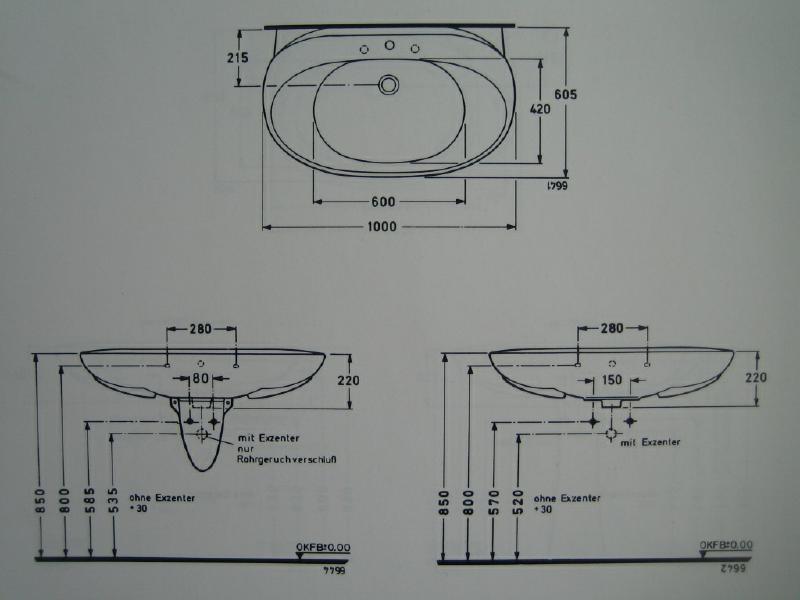 Ideal Standard Inga Waschbecken Waschtisch Jasmin 100 Cm Spuelen