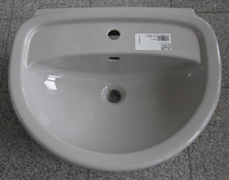 delta diara waschtisch waschbecken 60 x 48 cm manhattan grau spuelen. Black Bedroom Furniture Sets. Home Design Ideas