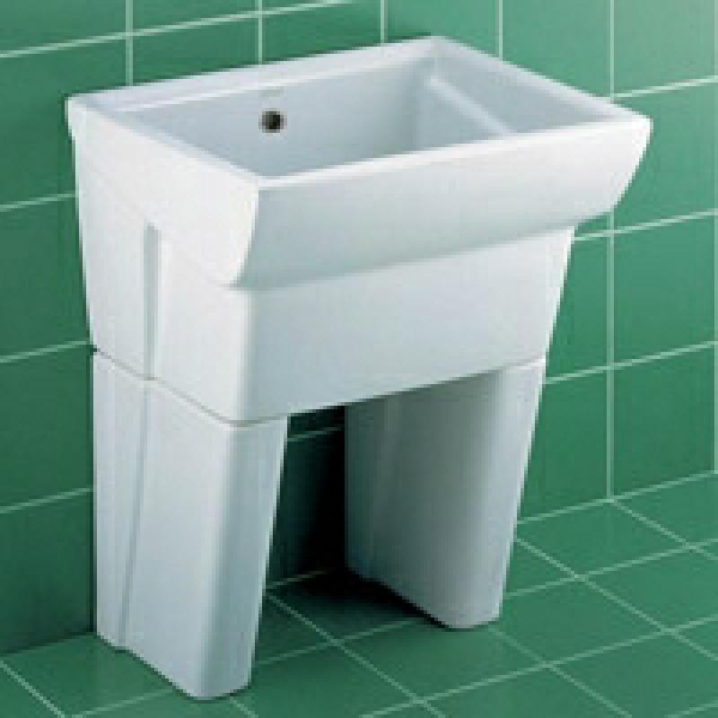 ideal standard ausgussbecken waschbecken weiss 60x50 cm. Black Bedroom Furniture Sets. Home Design Ideas