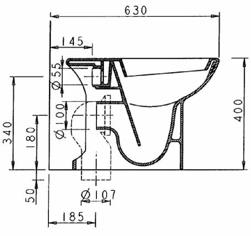 ceramica dolomite novella stand wc pergamon spuelen. Black Bedroom Furniture Sets. Home Design Ideas