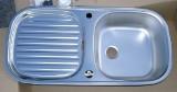 RIEBER Soft Spüle Einbauspüle Küchenspüle Edelstahl 86 x 43,5 cm mit Excenter