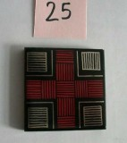 MOSA Bordüren Rot-Schwarz-Gold 5 x 5 cm
