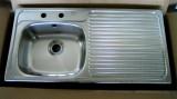 BLANCO Spüle Einbauspüle Küchenspüle Edelstahl 97,5 x 49 cm Becken-Links