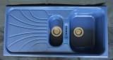 RIEBER Verona-150 Spüle Blau-Granit 100 x 50 cm