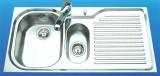 SUTER Comfort C100 Spüle 100x50 cm EDELSTAHL-MATT Becken-Links
