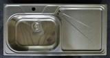 SUTER Silver Steel SSL100 Spüle 100x50 cm EDELSTAHL-MATT B-L