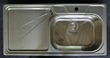 SUTER Silver Steel SSL100 Spüle 100x50 cm LEINEN-EDELSTAHL B-R
