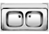 BLANCO lay-on sink 100x60 cm