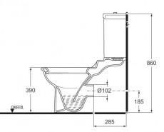 IDEAL STANDARD Esprit Stand-WC Weiss Abgang innen senkrecht zum Boden