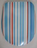 HAMBERGER Toilettenbrille WC-Deckel WC-Sitz Blau Gestreift