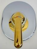 Bausatz 2 - Class Unterputz-Duschwannenarmatur Chrom/Gold