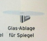 Ideal Standard wandhängende Seifenschale Glas-Schale Ablage