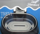 Trevi Deluxe Seifenschale Kunststoff-Schale Ablage Grau transparent