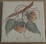 MOSA 1363 Wandfliese handbemalte antike Küchenfliese Landhaus Art mit Haselnuss Motiv 10x10 cm