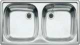 BLANCO TOP ED 8x4 Doppelbecken Spüle Einbauspüle Küchenspüle Edelstahl 78 x 43,5 cm