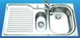 SUTER Comfort C100 Spüle 100x50 cm EDELSTAHL-MATT Becken-Rechts