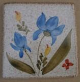MOSA 1307 Wandfliese handbemalte antike Fliese mit Blumen Motiv 10x10 cm