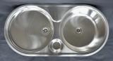 RIEBER ovale Einbauspüle Spüle Küchenspüle Rundbecken 86 x 43,5 cm EDELSTAHL