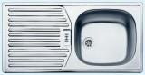 RIEBER E86K Edelstahl 86 x 43,5 cm Spüle Küchenspüle Einbauspüle