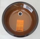 BLANCO Rondo Runde Spüle Rundbecken Spülbecken Brazil Braun 43,5 cm