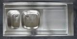 FRANKE Auflage-Spüle Doppelbecken 130 x 60 cm Edelstahl B-L