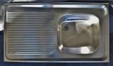 BLANCO Auflage-Spüle 90 x 50 cm Edelstahl B-R
