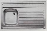 BLANCO Auflage-Spüle 90x60 cm Edelstahl Becken-Links