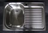 SUTER Comfort C75 Spüle 75x50 cm Edelstahl BECKEN-LINKS