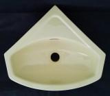 SPHINX Eck-Handwaschbecken Eck-Waschtisch 35 cm Evora (Creme-Gelb)