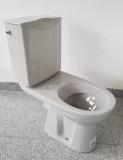 KERAMAG Delta Diara Stand-WC-Kombination mit Spülkasten Manhattan Grau