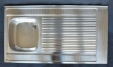 FRANKE Auflagespüle 110 x 60 cm Becken-Links Edelstahl