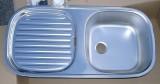 RIEBER Soft Spüle Einbauspüle Küchenspüle Edelstahl 86 x 43,5 cm