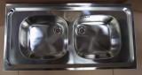 RIEBER Auflage-Spüle Doppelbecken 100 x 50 cm Edelstahl