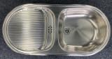 BLANCO Lux Spüle Einbauspüle Küchenspüle Edelstahl 90 x 43,5 cm