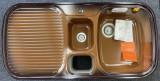 BLANCO Multi-Box Spüle Becken Rechts 99,5x49 cm Brazil Braun
