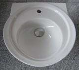 IDEAL STANDARD Waschbecken Waschtisch rund Cresta 55 x 53 cm WEISS