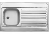 BLANCO Lay-on sink Stainless steel 100x60 cm
