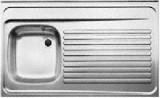 RIEBER Auflage-Spüle 90 x 60 cm Edelstahl BECKEN-LINKS