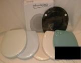 Abusanitair WC-Sitz Toilettensitz WC-Brille WC-Deckel SCHWARZ