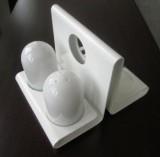 Egro Salzstreuer Pfefferstreuer aus weißem Marmor + Menage