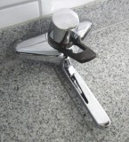 Egro Duplo Thermostat-Wand-Armatur Küchenarmatur Chrom/Braun
