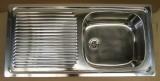 INTRA CA1 Spüle Einbauspüle Küchenspüle Edelstahl 86 x 43,5 cm