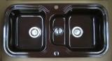 ALAPE Doppelbecken-Spüle 138 MOCCA-BRAUN 97x50,5 cm