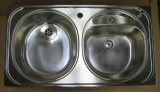 FRANKE - BELINOX stainless steel double bowl kitchen sink