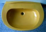 KERAMAG Waschbecken Waschtisch 78 x 52 cm CURRY GELB