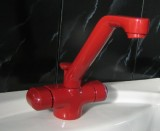 Ideal Standard Dualux Waschbeckenarmatur Waschtischarmatur ROT