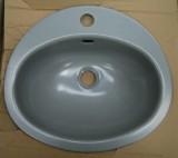 TEKA KW9 Einbauwaschbecken Einbau-Waschbecken Stein-Grau 41 x 36 cm